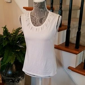 White Sleeveless Top by George